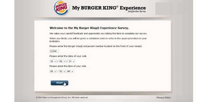 mybkexperience sep 2018 burger king survey win free whopper