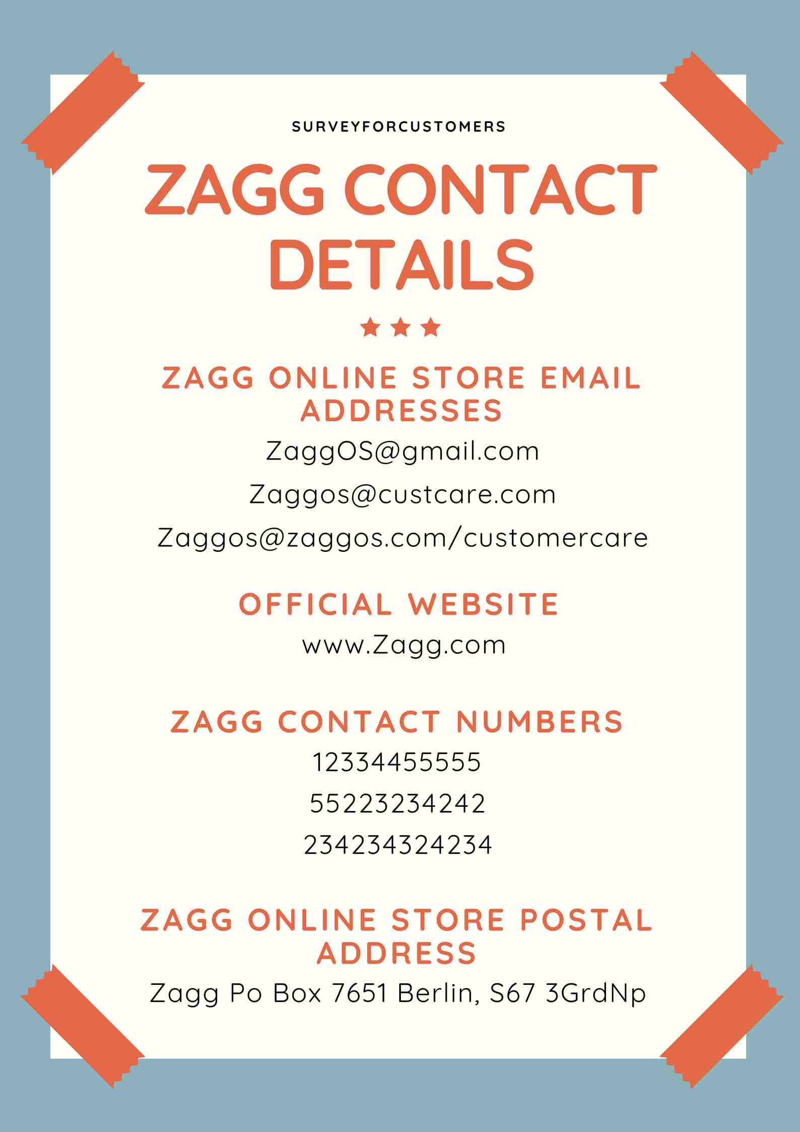 About Zagg Online Store