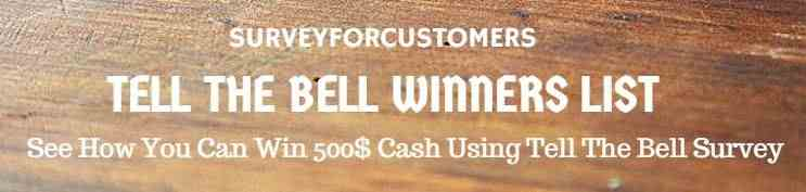 tell the bell winners