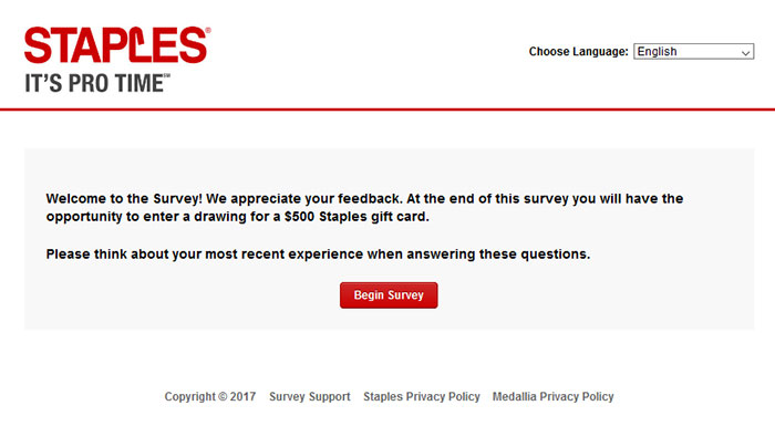 Surveymedalliacom-Staples Customer Satisfaction Survey