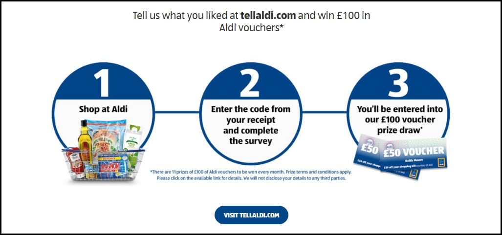Tell Aldi UK Survey Landing Page