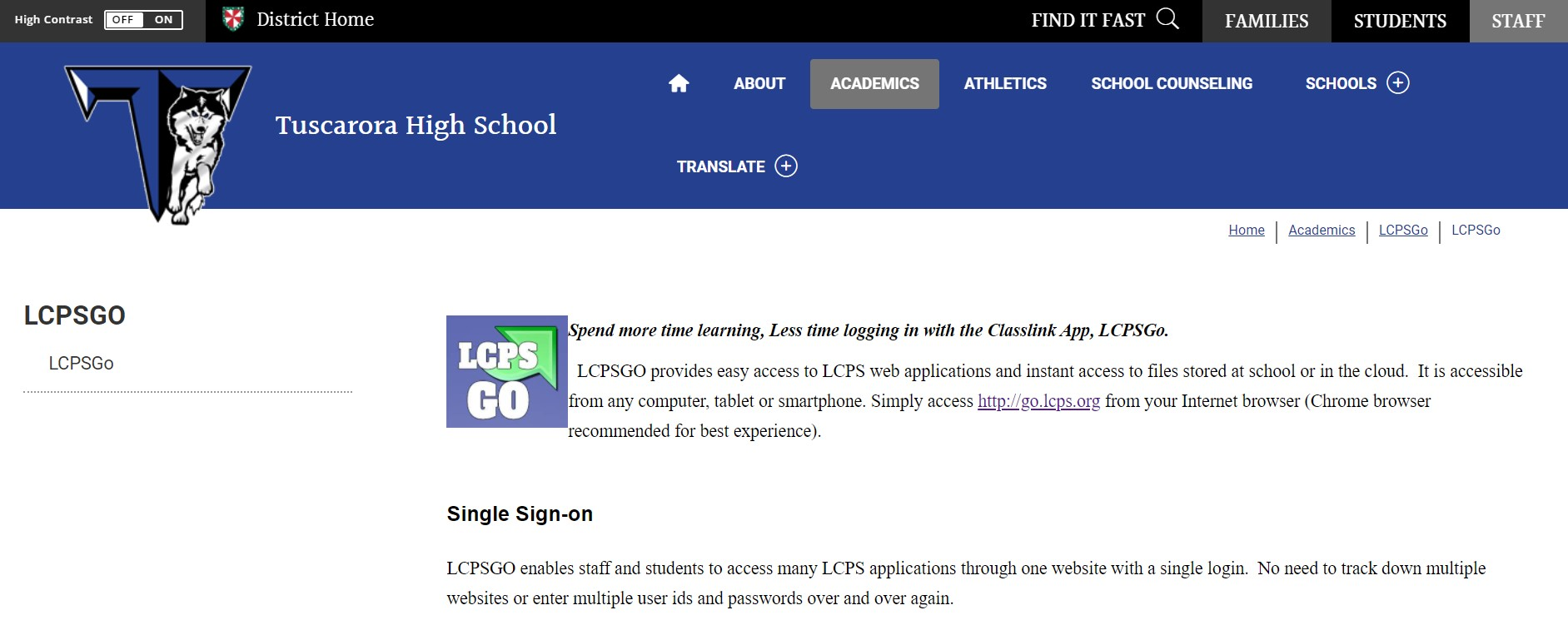 lcps Homepage @ lcps.org