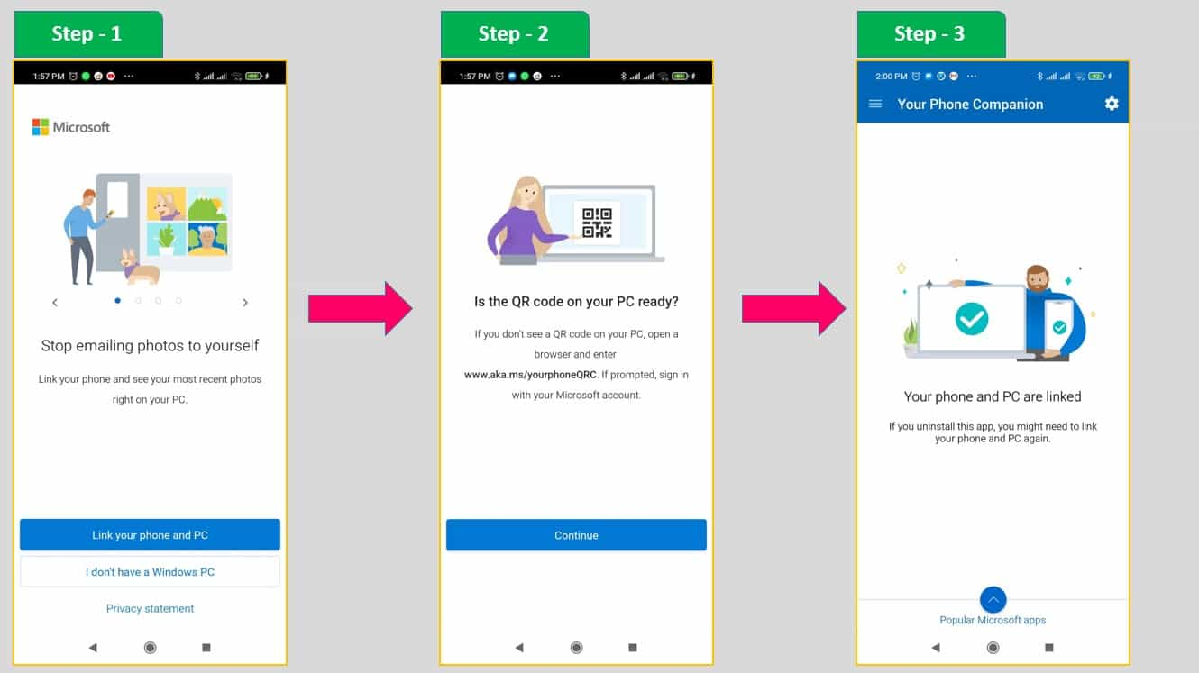 Step by Step Guide for Your Phone Companion Application - Android